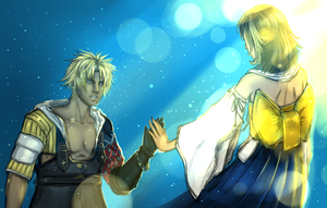 FFX: Yuna and Tidus by shallete