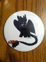 Toothless art pin by CrystalCircle