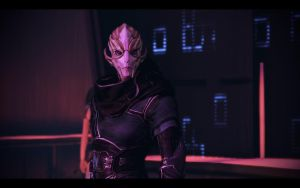 ME3 Citadel DLC - G/S Date - Female Turian by chicksaw2002