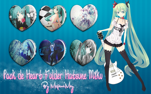 Folders Heart Hatsune Miku by MegamiMay