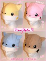Milkshake Kitty Hats by CherryAbuku