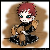 Gaara and Teddy by gaarakun