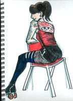 Dr. Sketchy's - Lauren B. by rori