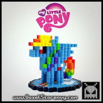 Rainbow-Dash and How to! by VoxelPerlers