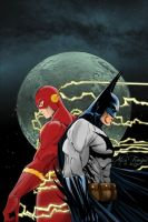 Batman and Flash by TrouperDNico