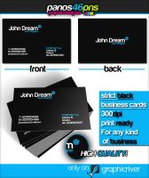 Strict Black Business Card by panos46