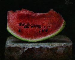 a slice of watermelon by marcheba