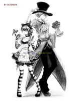 Alice and Mad Hatter by Detoreik
