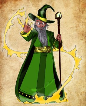 Amtgard Wizard by mackrafty