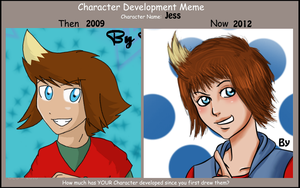 Character development meme Jess by Pipix21