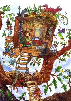 Teatime in the treehouse by Elolinon