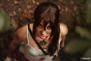 Lara Croft - Dare to fight? by CrystalPanda