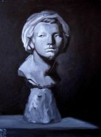 plaster cast study - head 2 by EthicallyChallenged