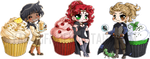 Cookbook Cupcakes ::Commission:: by YamPuff