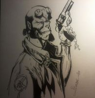 hellboy campbell's sketch by willwoosharon