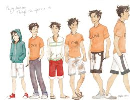 Percy Jackson through the ages by Brigid Vaughn by Polyduke