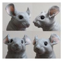 Chinchilla Sculpture WIP First Chinchilla by philosophyfox