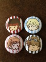Tsubasa Button Set by Snuckledrops