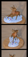 Deer sculpture by CaptainWilder
