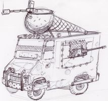 I Scream truck by Jepray