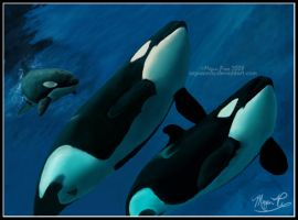 Mother and Children by AquaOrca