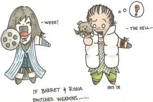 If Barret and Rinoa switched.. by Kahlan4