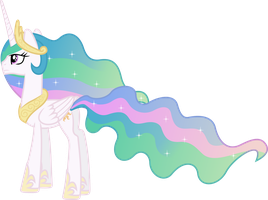 Princess Celestia Gazing Skyward by 90Sigma