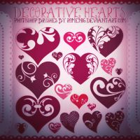 Decor Hearts Premium Brushes by Romenig