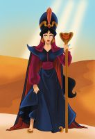 Jasmine as Jafar by Paola-Tosca