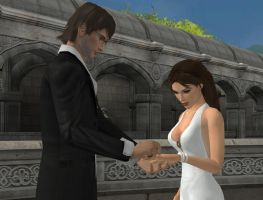 XNALara - Lara's wedding by simochanny