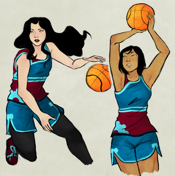 Sporty GFs by hahahaida