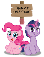 Commission: Thank you for 100+ Members and Watcher by AleximusPrime