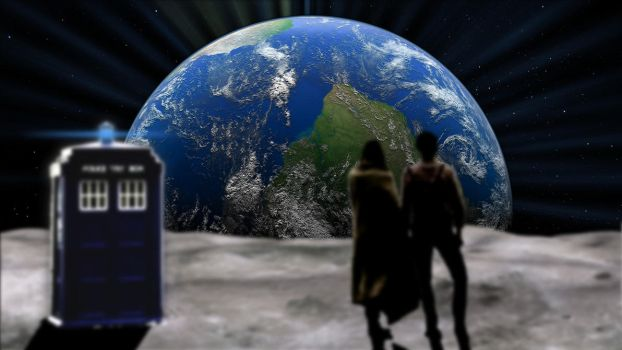 Doctor Who Overlooking Earth by Materialize127