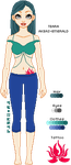 -pixel- Teara Reference Sheet by Crysthal