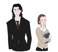 college AU Reylo by TheRapace