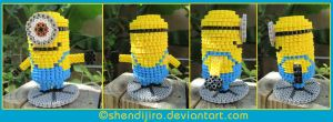 3D Minion | Bead Sprites | With DIY Video by Shendijiro