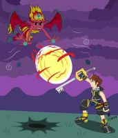 Sora vs. Sunset Shimmer by JazzyTyfighter