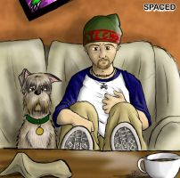 Tim Bisley and Colin the Dog by Ferntree