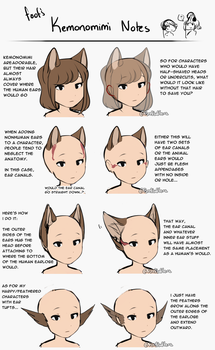 Kemonomimi Notes / Animal Ear Tutorial by FireFlufferz