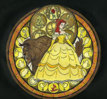 KH Stained Glass - Belle by BastRulez