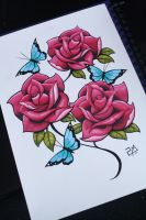 I Draw Roses - Colour :D by artisticrender