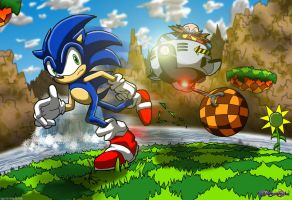 Sonic Encounters Robotnik by dreamastermind