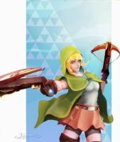 Hyrule Warrior, Linkle by WillSindra