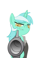 Lyra Pointing Revolver by BrinkySkullWolf