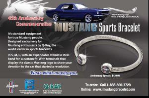 Mustang Sports Bracelet Ad Winner by BackMasker