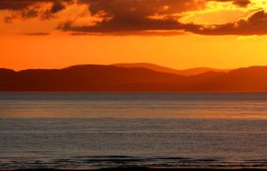 Solway Firth Sunset by Rebacan