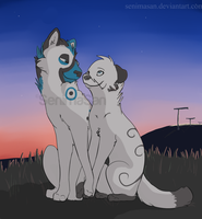 ~Gift for xCyberWolfx~ .:5ever Together:. by SenimaSan
