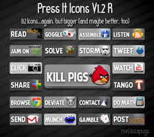Press It Icons V1.2R Larger by melissapugs