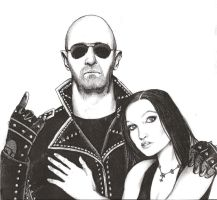 Rob Halford and Tarja Turunen by Wild-Huntress