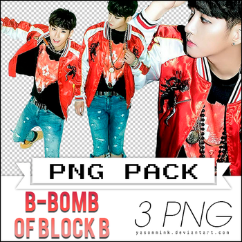 Renders' pack with B-Bomb of Block B by yasonmink